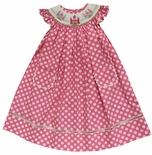 Vive La Fete Girl's Bishop Smocked Princess Castles Dress