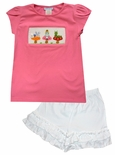 Vive La Fete Smocked Alice in Wonderland Top and Shorts