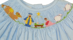 Vive La Fete Smocked Manger Dress