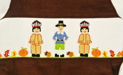 Vive La Fete Smocked Pilgrim and Indians Longall
