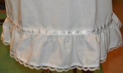 White Lace and Ribbon Embellished Slip for Girls