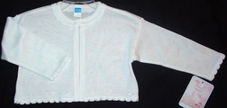 Girl's Bolero Sweater-Shrug with Rosebuds by Will'Beth