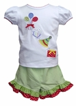 Girl's Birthday Shirt And Shorts Outfit by Zuccini.