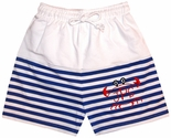 Zuccini Royal Blue Boy's Monogrammable Swim Suit/Trunks
