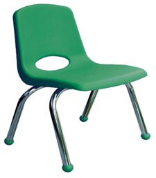"""10"""" School Stack Chair with Chrome Legs - 10 Pack"""