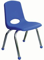 "10"" School Chair Chrome Legs (6 Pack)"