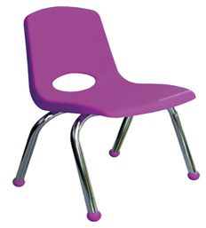 "12"" School Stack Chair with Chrome Legs - 6 Pack<br>"