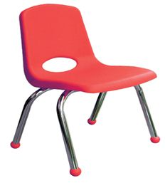 "16"" School Chair Chrome Legs (6-Pack)"