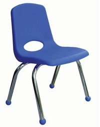 "18"" School Stack Chair with Chrome Legs( 4 Pack)<br>"
