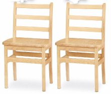 "18"" Wood Ladderback Chairs (Pair)<br>"