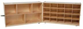 20 Tray and Shelf Folding Storage w/o Trays<br>