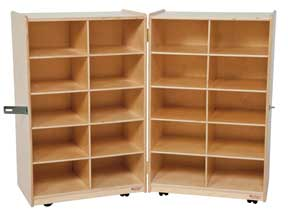 20 Tray Folding Vertical Storage Unit w/o Trays<br>