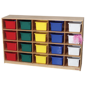 20 Tray Storage Unit w/ Assorted Trays