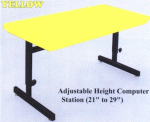 "21""-29"" Adjustable Height Computer Station"