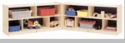 """24"""" High 10-Section Toddler, 2-Shelf Fold and Lock Mobile Storage"""