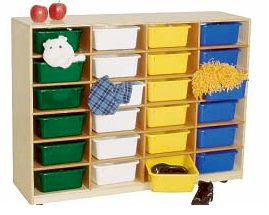 24 Larger Tray Storage Unit w/ Assorted Trays<br>
