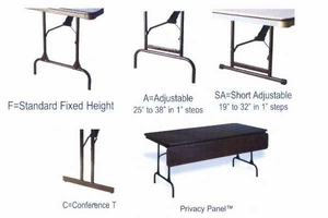 "24"" x 72"" Rectangular ABS Plastic Folding Table"