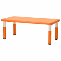 24in x 48in Rectangle Resin Adjustable Height Table