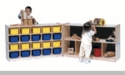 25-Tray Cubby with 8 Section Folding Storage
