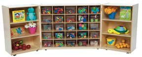 25 Tray Tri-Fold Storage Unit w/ 25 Clear Trays<br>