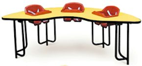 3 Seat Play and Feed Table