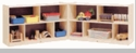 """30"""" High 10 Section, 2 Shelf Toy and Block Fold and Lock Mobile Storage"""