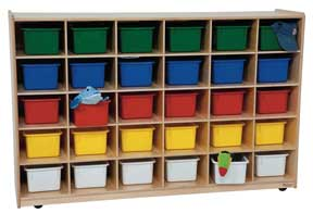 30 Tray Storage Unit w/ Assorted Trays<br>