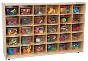 30 Tray Storage Unit w/ Clear Trays<br>
