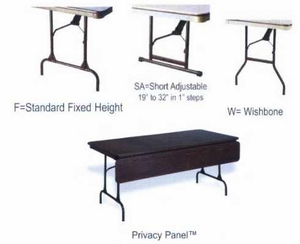 "30"" x 48"" Rectangular ABS Plastic Folding TAble"