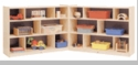 """36"""" High 16-Section, 3-Shelf Fold and Lock Mobile Storage"""