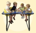 4 Seat Space Saver Toddler Table
