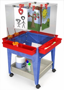 4 Station Space Saver Art Easel S13830