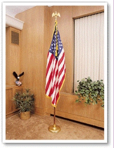 4'x6' Complete Mounted US Flag Set