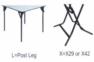 """42"""" Round ABS Plastic Folding Table"""