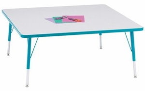 "48"" Square Activity Table Rainbow Accent"