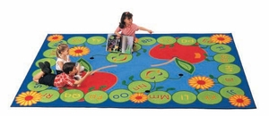 "5'10"" x 8'4"" Rectangle ABC Caterpillar Rug - Medium"
