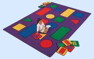 """5'10"""" x 8'4"""" Rectangle Shapes Rug"""