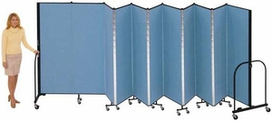 """6'8"""" High Free Standing Portable Room Divider"""