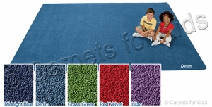 6' x 9' Rectangle KIDply Soft Solids Carpet