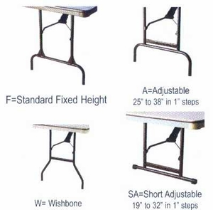 """60"""" Round ABS Plastic Folding Table"""