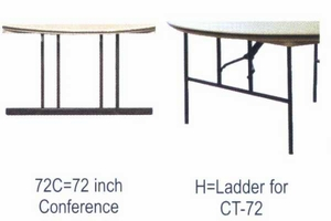 """72"""" Round ABS Plastic Folding Tables"""