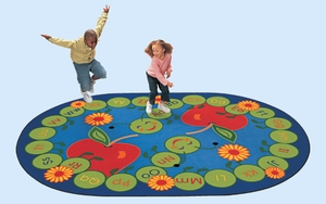 "8'3"" x 11'8"" Oval ABC Caterpillar Rug"