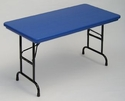 "Adjustable Height Folding Table 24"" x 48""<br>"