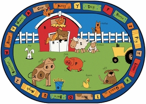 "Alphabet Farm 6'9"" x 9'5"" Oval<br>"