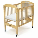 Angeles Clear Panel Adjustable Fixed Side Crib<br>