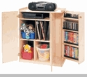 Audio Storage Unit w/ Locking Door