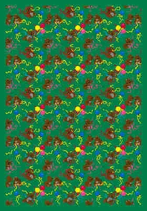 "Bears & Ballons - 5'4"" x 7'8"" Rectangle"