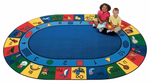 "Blocks of Fun Rug 8'3"" x 11'8"" Oval<br>"
