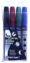 Broad tip dry erase markers in red, blue, black and green