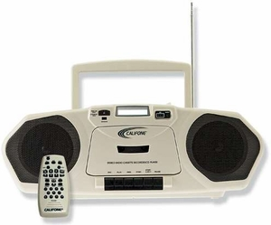 CD/Cassette Boom Box, Single Cassette Recorder/CD Player w/MP3 Capability